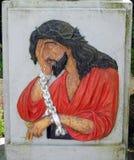 Retrato de Jesus Christ, Lituânia foto de stock