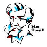 Retrato de Johann Strauss II libre illustration