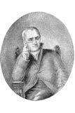 Retrato de John Dalton Fotos de archivo