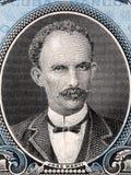 Retrato de Jose Marti do dinheiro cubano imagens de stock
