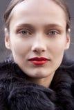 Retrato de Karmen Pedaru del modelo de moda en Nueva York Fotografía de archivo