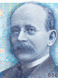 Retrato de Kristian Birkeland do dinheiro norueguês Imagem de Stock