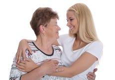 Retrato de la abuela real con su nieta. Fotos de archivo libres de regalías