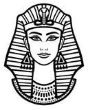 Retrato de la animación de la mujer egipcia hermosa