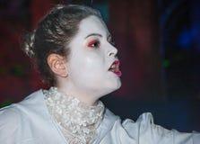 Retrato de la aparición fantasmal en Halloween Foto de archivo