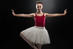 Retrato de la bailarina en actitud del ballet Imagen de archivo