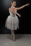 Retrato de la bailarina en actitud del ballet Imagenes de archivo