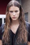 Retrato de la belleza de Colinne Michaelis del modelo de moda en Nueva York Fotos de archivo libres de regalías