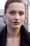 Retrato de la belleza de Karmen Pedaru del modelo de moda en Nueva York Fotografía de archivo