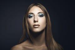 Retrato de la belleza de la mujer joven Foto de archivo