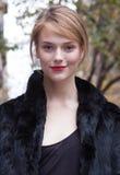 Retrato de la belleza de Martha Streck del modelo de moda en Nueva York Fotos de archivo libres de regalías