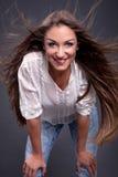 Retrato de la belleza hairstyle Foto de archivo libre de regalías
