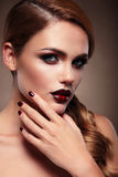 Retrato de la belleza maquillaje de la tarde Fotos de archivo libres de regalías