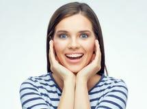 Retrato de la belleza de la muchacha sonriente Imagenes de archivo