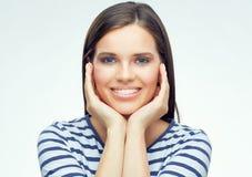 Retrato de la belleza de la muchacha sonriente Imágenes de archivo libres de regalías