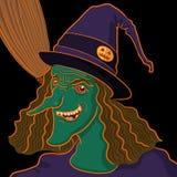 Retrato de la bruja Imagen de archivo libre de regalías