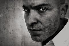 Retrato de la cámara de la cara del hombre Foto de archivo libre de regalías