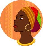 Retrato de la cabeza africana de la mujer Imagenes de archivo