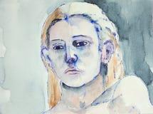 Retrato de la cabeza de una mujer Imagen de archivo libre de regalías