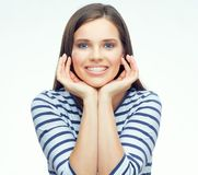 Retrato de la cara del adolescente con los apoyos Imagen de archivo