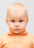 Retrato de la cara del bebé caucásico fotografía de archivo libre de regalías