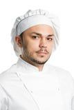 Retrato de la cara del cocinero aislado fotografía de archivo libre de regalías