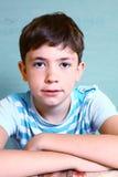 Retrato de la cara del primer del muchacho del adolescente Fotografía de archivo libre de regalías