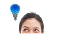 Retrato de la cara y del bulbo divertidos Imagen de archivo libre de regalías