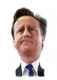 Retrato de la caricatura de David Cameron Imágenes de archivo libres de regalías