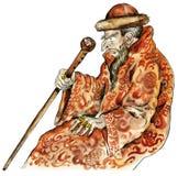 Retrato de la caricatura de Ivan del Tsar ilustración del vector