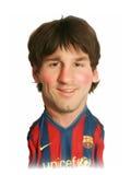 Retrato de la caricatura de Lionel Messi Fotos de archivo libres de regalías