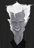 Retrato de la caricatura del ídolo de Billy Fotos de archivo libres de regalías