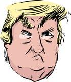 Retrato de la caricatura del triunfo que pone mala cara