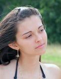 Retrato de la chica joven cansada Imagen de archivo libre de regalías