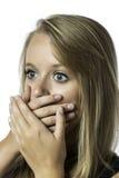 Retrato de la chica joven chocada Fotografía de archivo libre de regalías