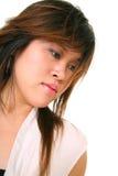 Retrato de la chica joven con el peinado Imagen de archivo