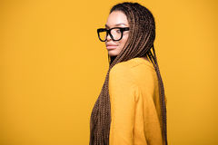 Retrato de la chica joven de moda Imagen de archivo libre de regalías