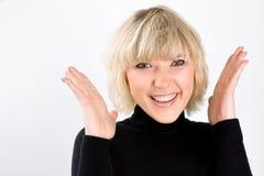 Retrato de la chica joven de risa Foto de archivo libre de regalías