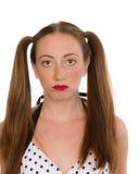Retrato de la chica joven en blanco Foto de archivo libre de regalías