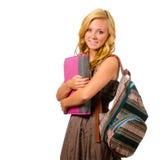 Retrato de la colegiala adolescente sonriente feliz Fotos de archivo