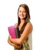 Retrato de la colegiala adolescente sonriente feliz Fotografía de archivo
