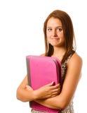 Retrato de la colegiala adolescente tímida nerviosa Foto de archivo libre de regalías