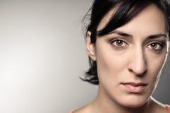 Retrato de la depresión de la mujer de Latina Imágenes de archivo libres de regalías