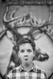 Retrato de la diversión del muchacho del adolescente Imágenes de archivo libres de regalías