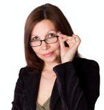 Retrato de la empresaria Fotos de archivo
