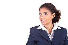 Retrato de la empresaria afro imágenes de archivo libres de regalías
