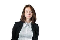 Retrato de la empresaria aislado en blanco fotos de archivo libres de regalías