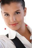 Retrato de la empresaria joven hermosa Fotografía de archivo