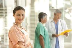 Retrato de la enfermera Imágenes de archivo libres de regalías