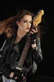 Retrato de la estrella del rock Imagen de archivo